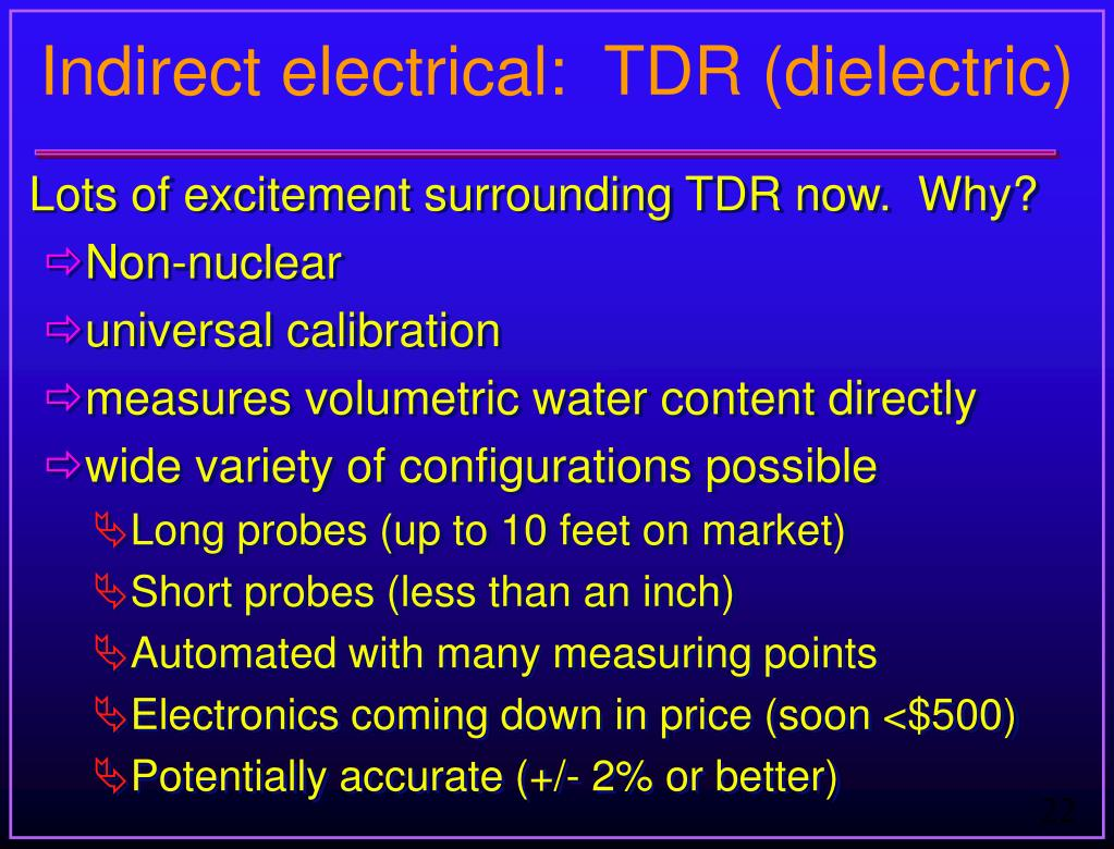 Indirect electrical:  TDR (dielectric)