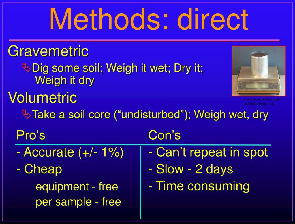 Methods: direct