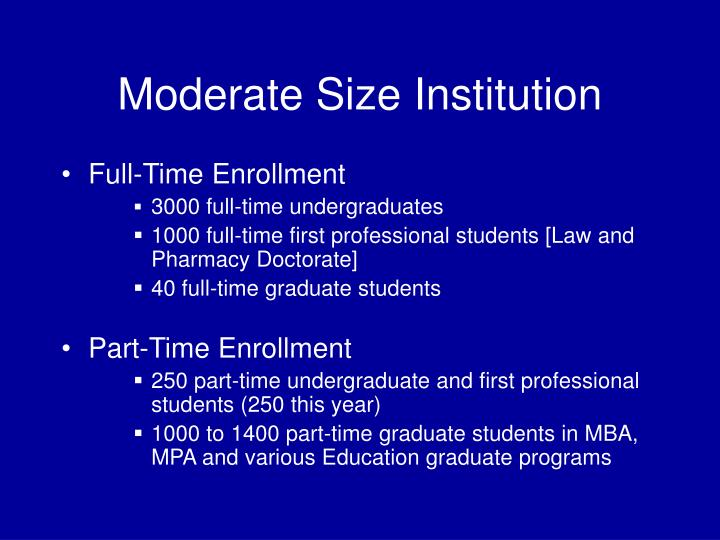 Moderate Size Institution
