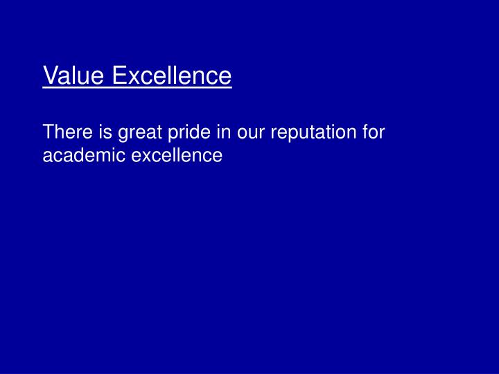 Value Excellence