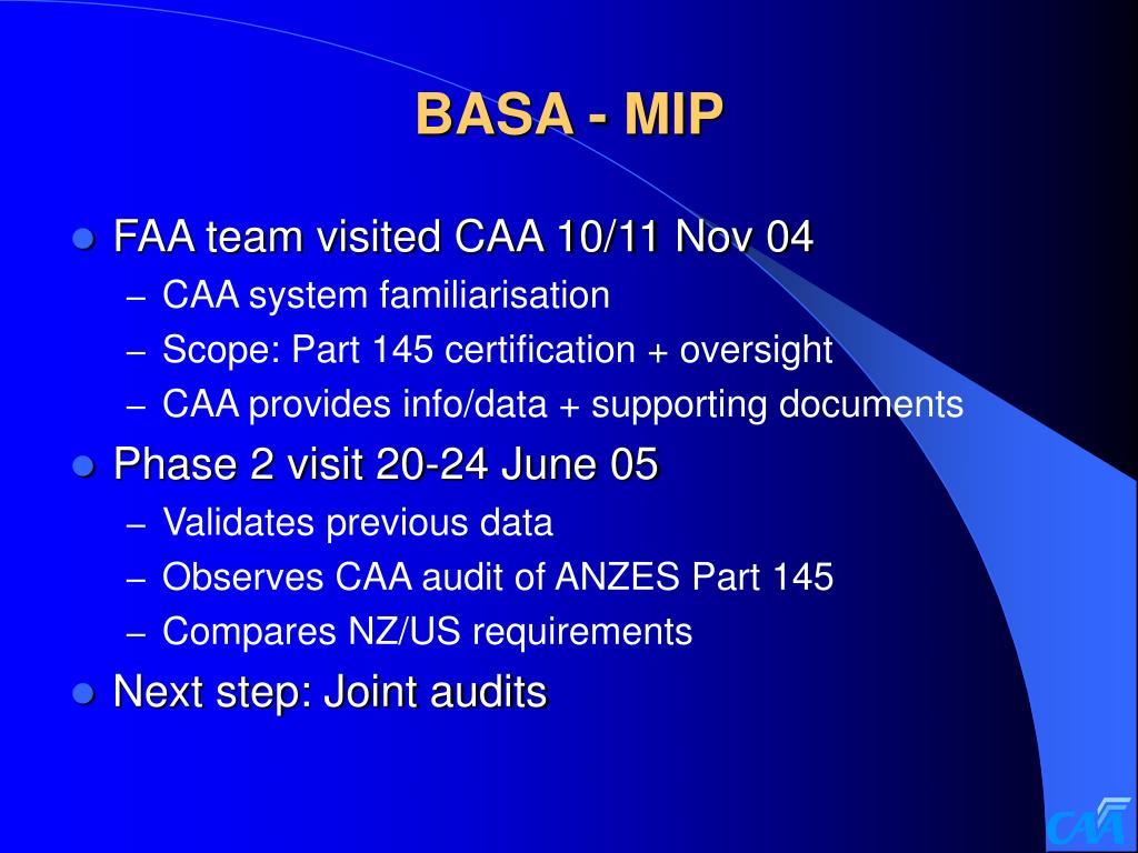 BASA - MIP