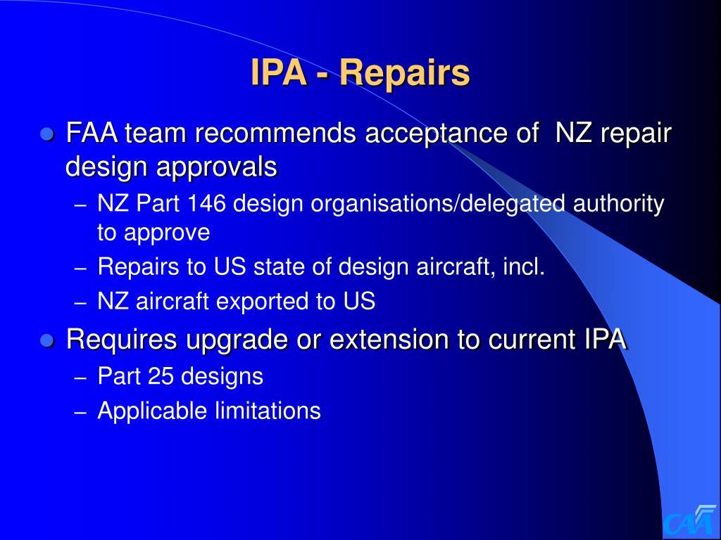 IPA - Repairs