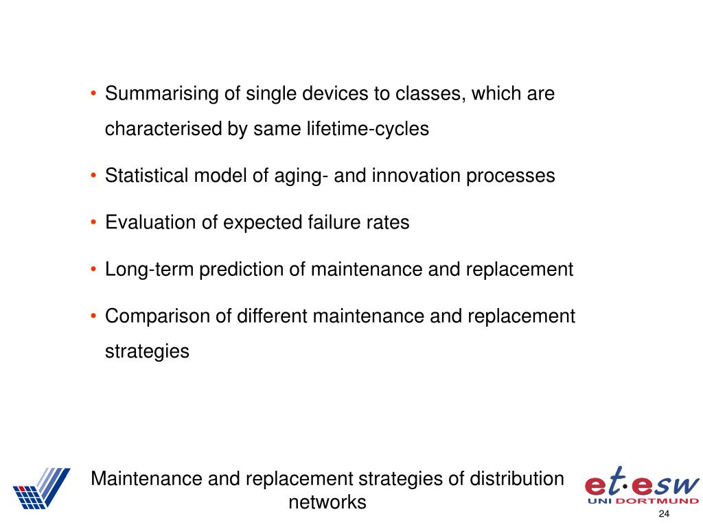 Summarising of single devices to classes, which are characterised by same lifetime-cycles