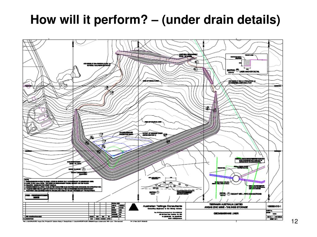 How will it perform? – (under drain details)