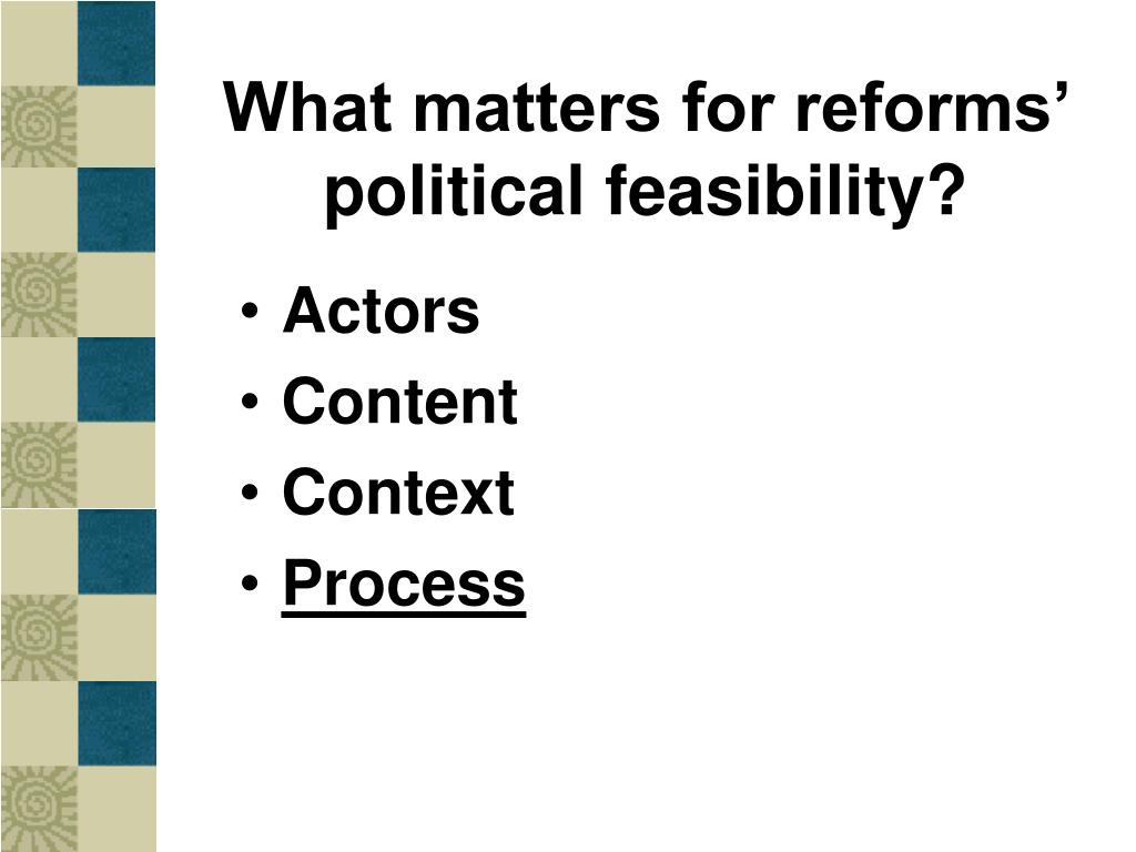 What matters for reforms' political feasibility?