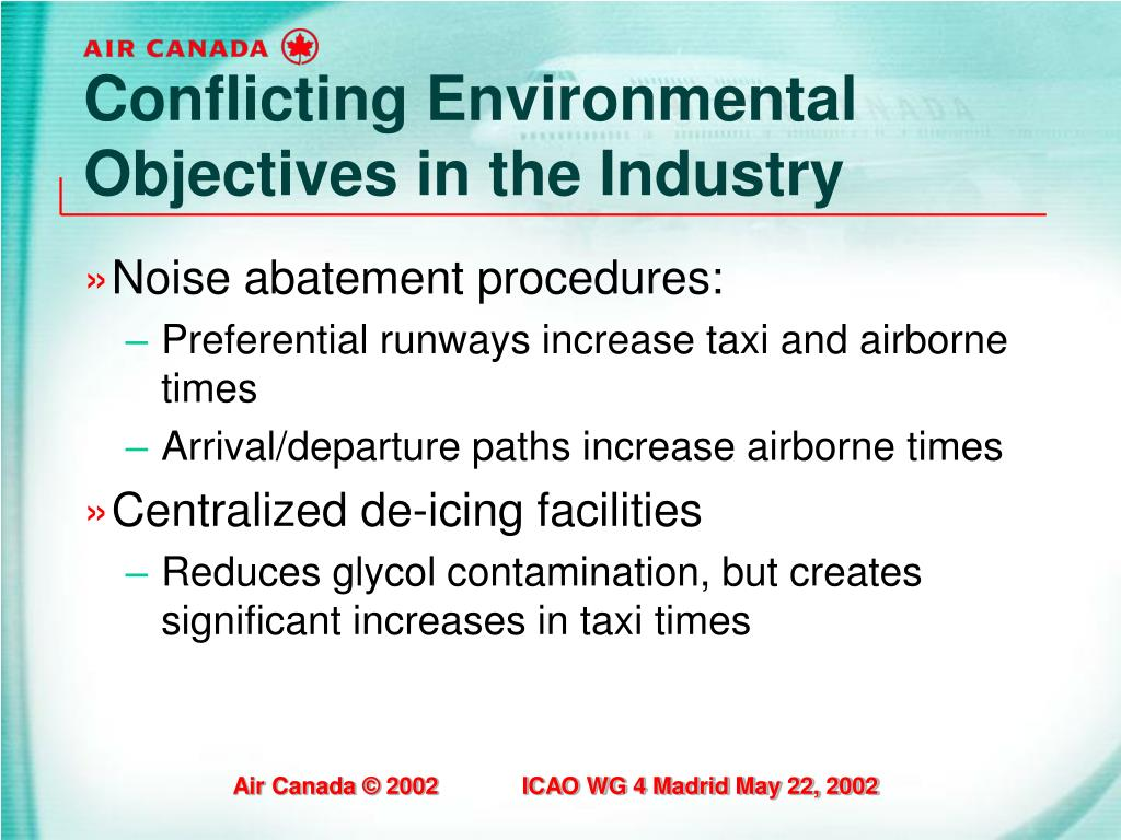Conflicting Environmental Objectives in the Industry