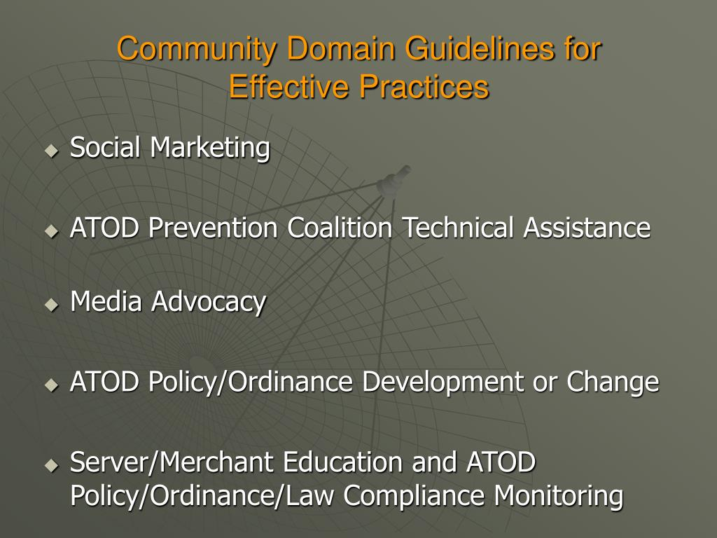 Community Domain Guidelines for