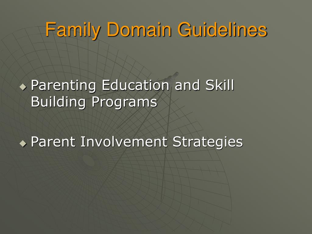 Family Domain Guidelines