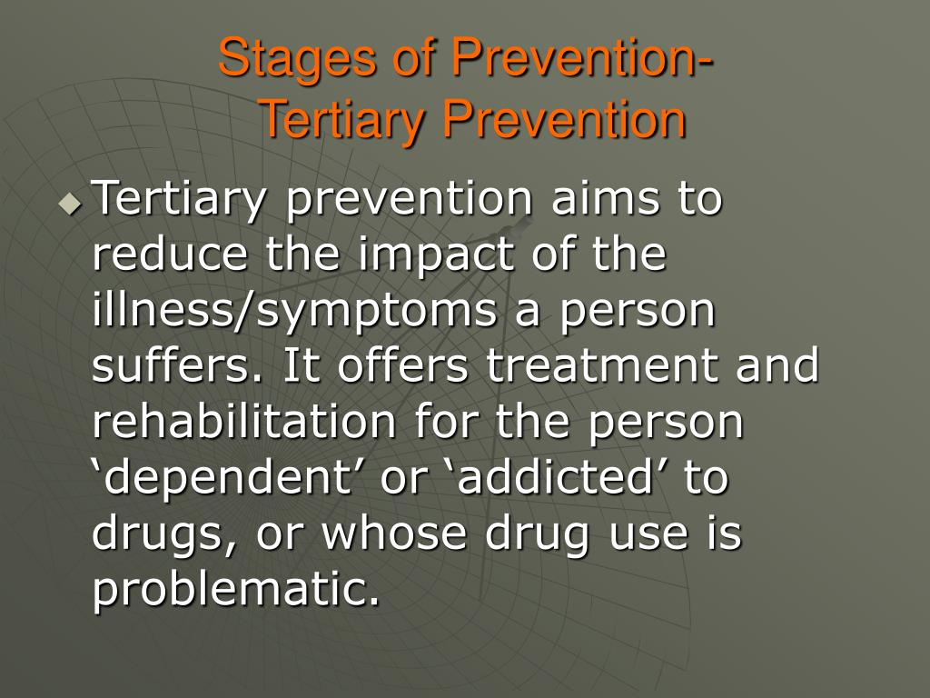 Stages of Prevention-