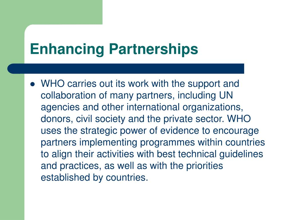 Enhancing Partnerships