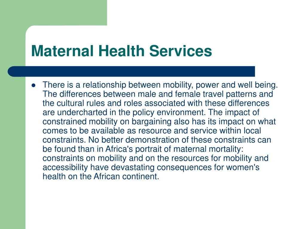 Maternal Health Services