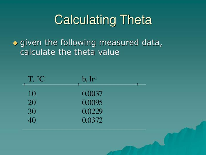 Calculating Theta