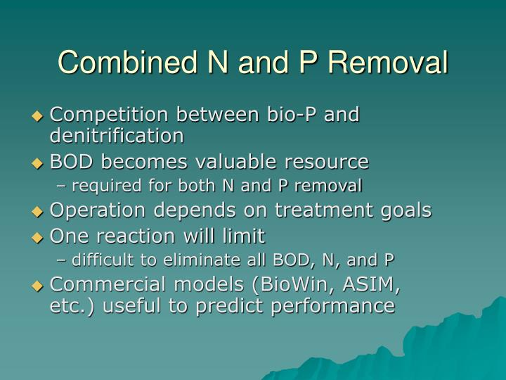 Combined N and P Removal