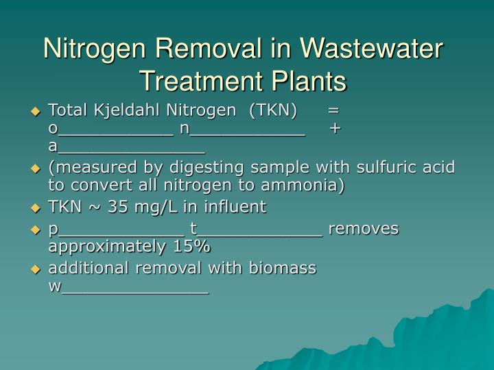 Nitrogen Removal in Wastewater Treatment Plants
