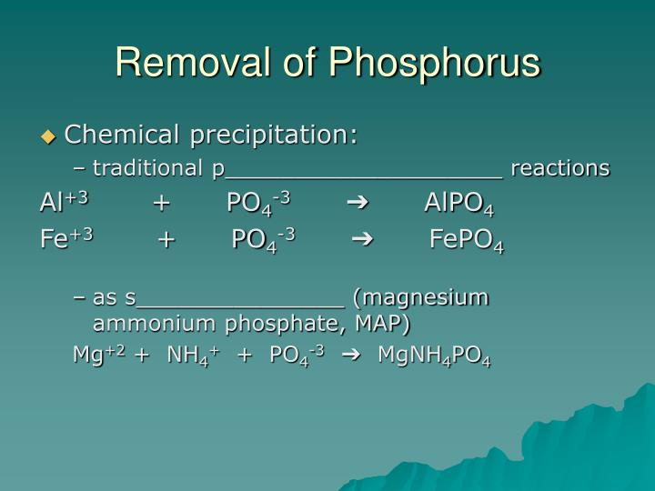 Removal of Phosphorus