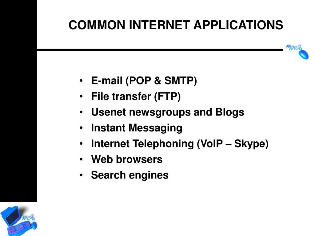 E-mail (POP & SMTP)