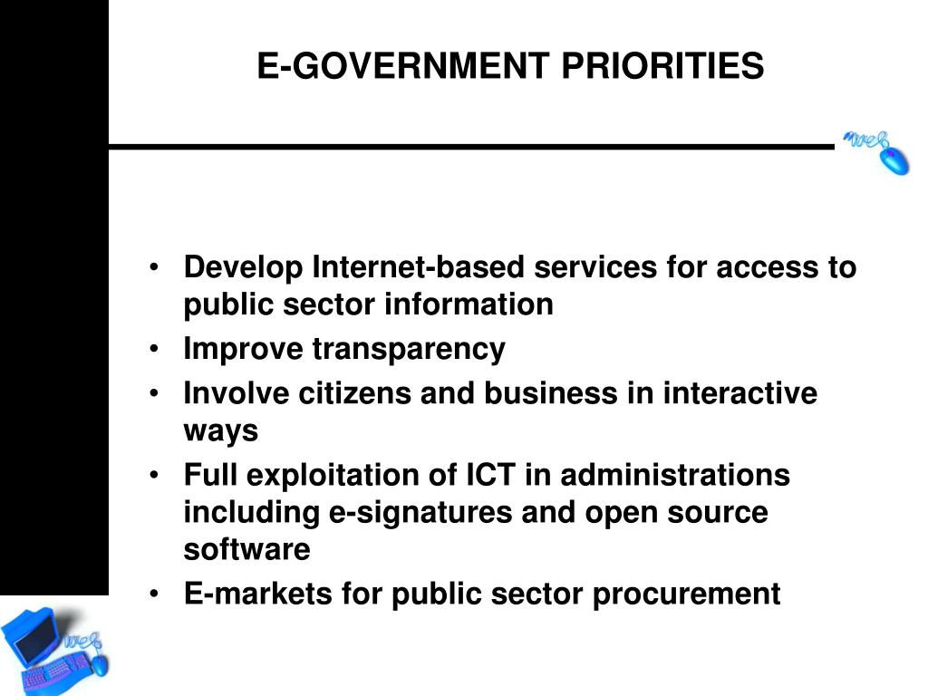 Develop Internet-based services for access to public