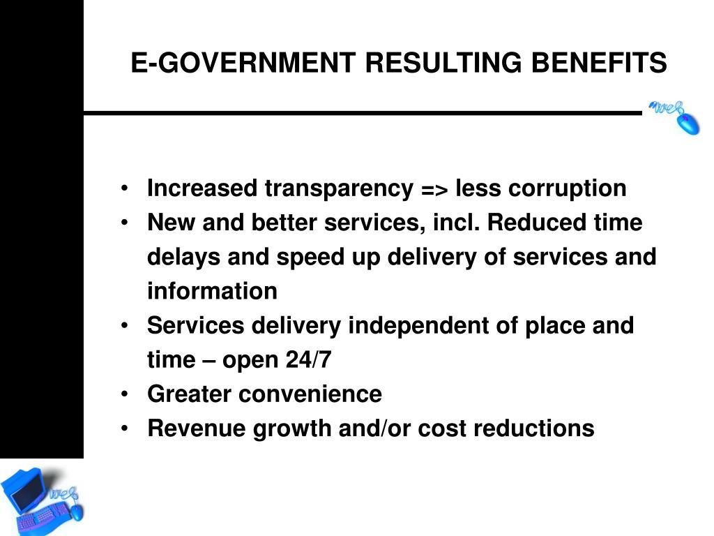 Increased transparency