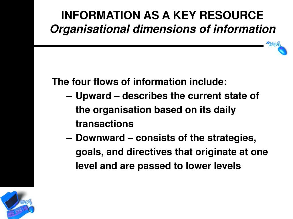 The four flows of information include: