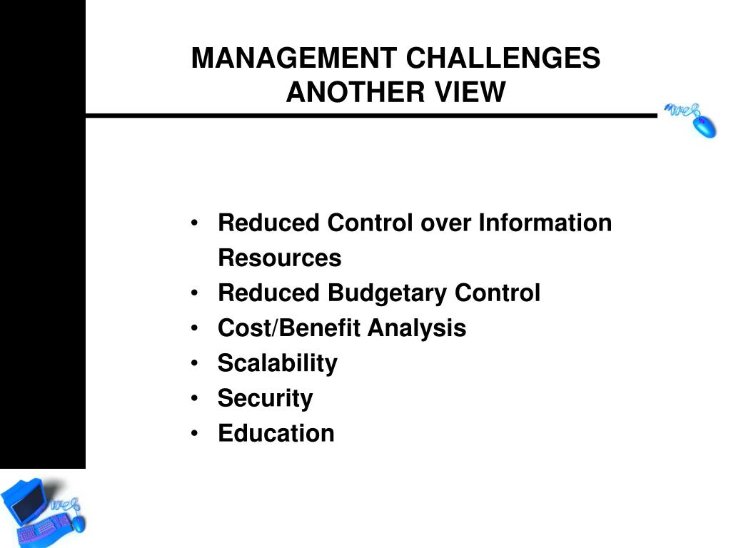 Reduced Control over Information Resources