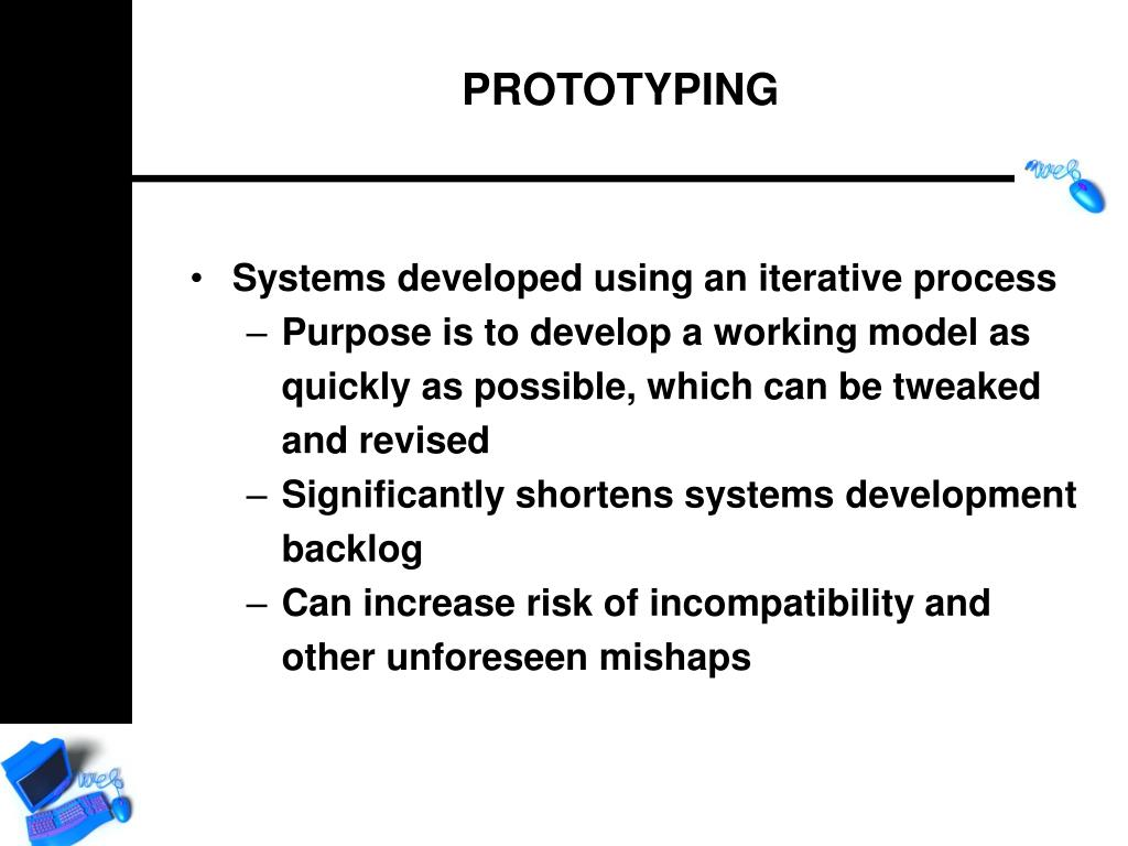 Systems developed using an iterative process