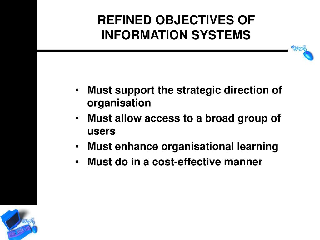 Must support the strategic direction of organisation