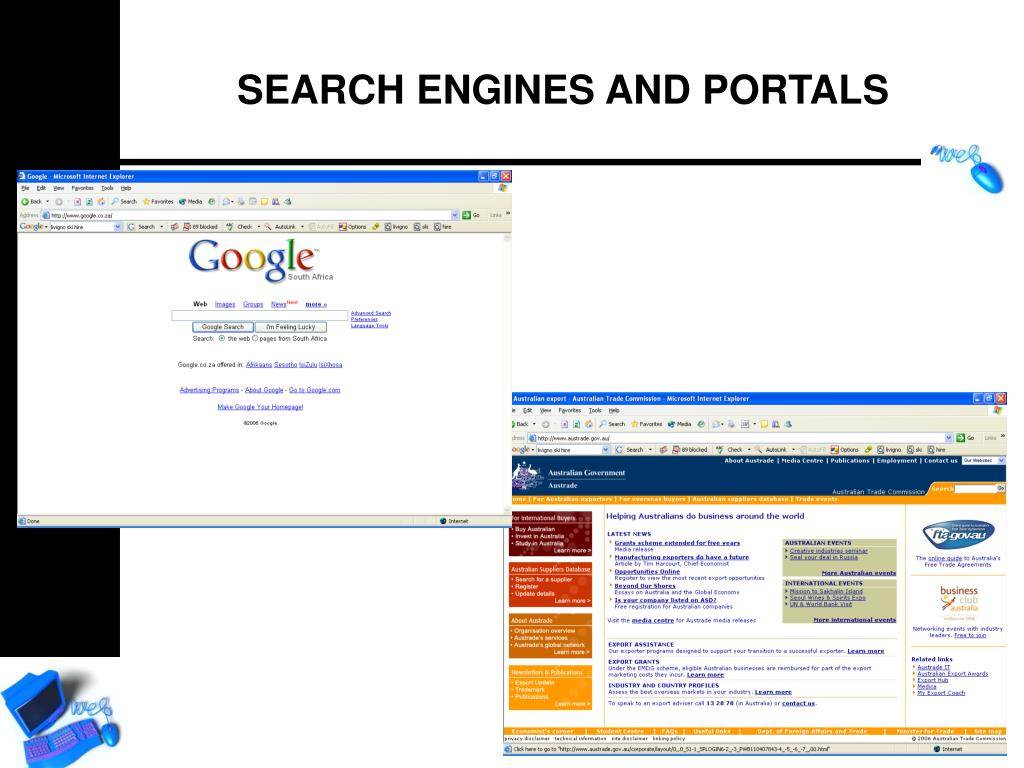 SEARCH ENGINES AND PORTALS