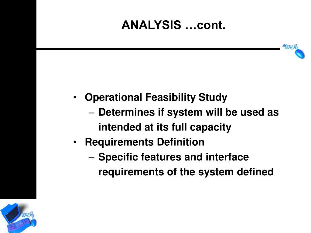 Operational Feasibility Study
