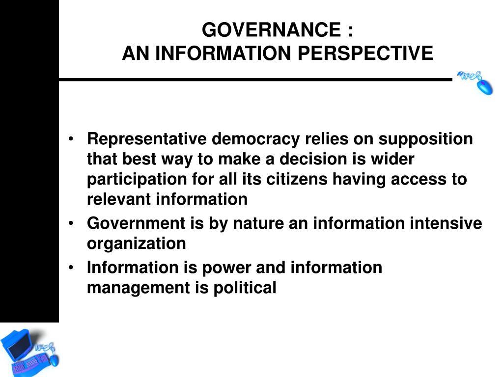 GOVERNANCE :