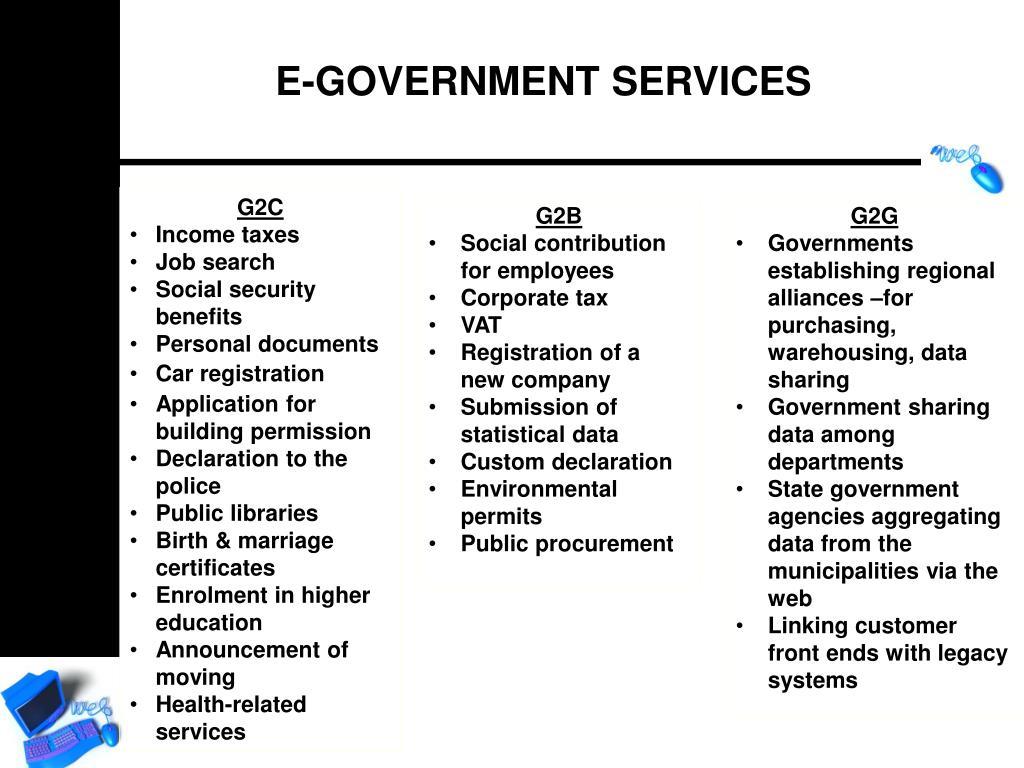 E-GOVERNMENT SERVICES