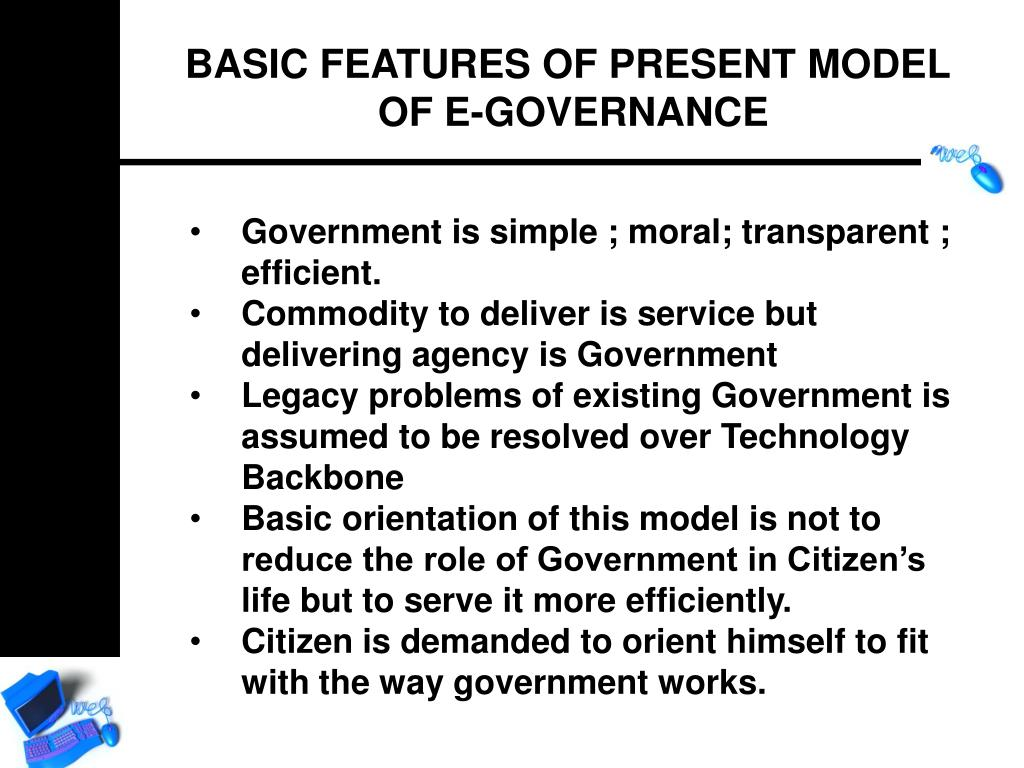 BASIC FEATURES OF PRESENT MODEL