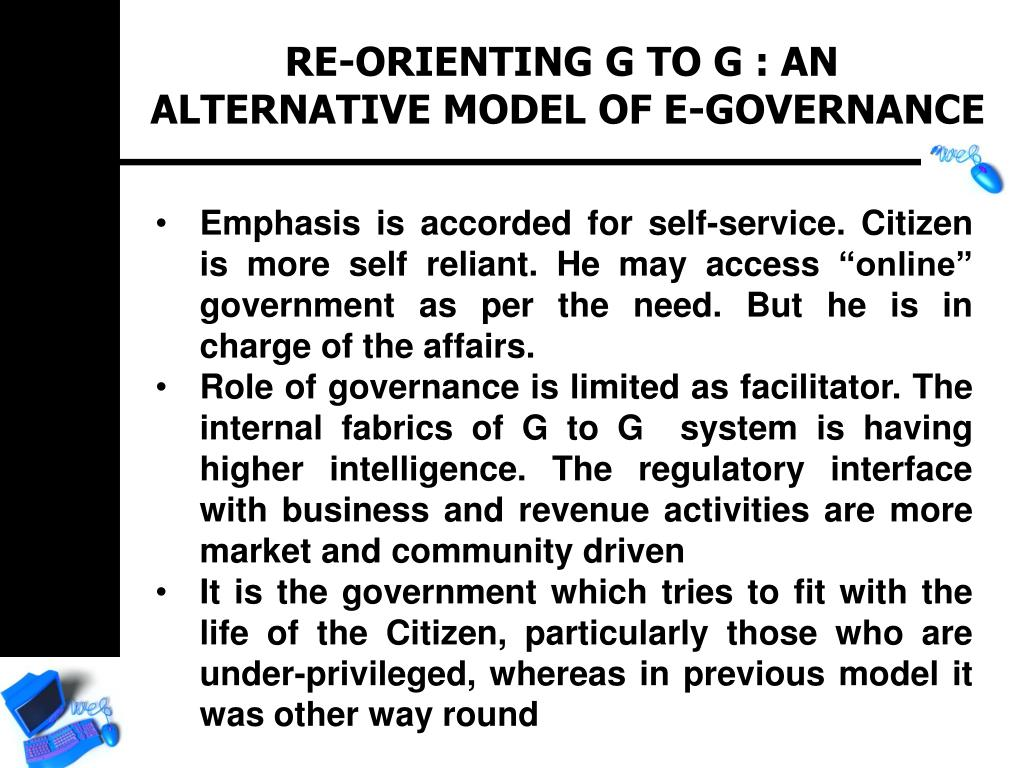 RE-ORIENTING G TO G : AN