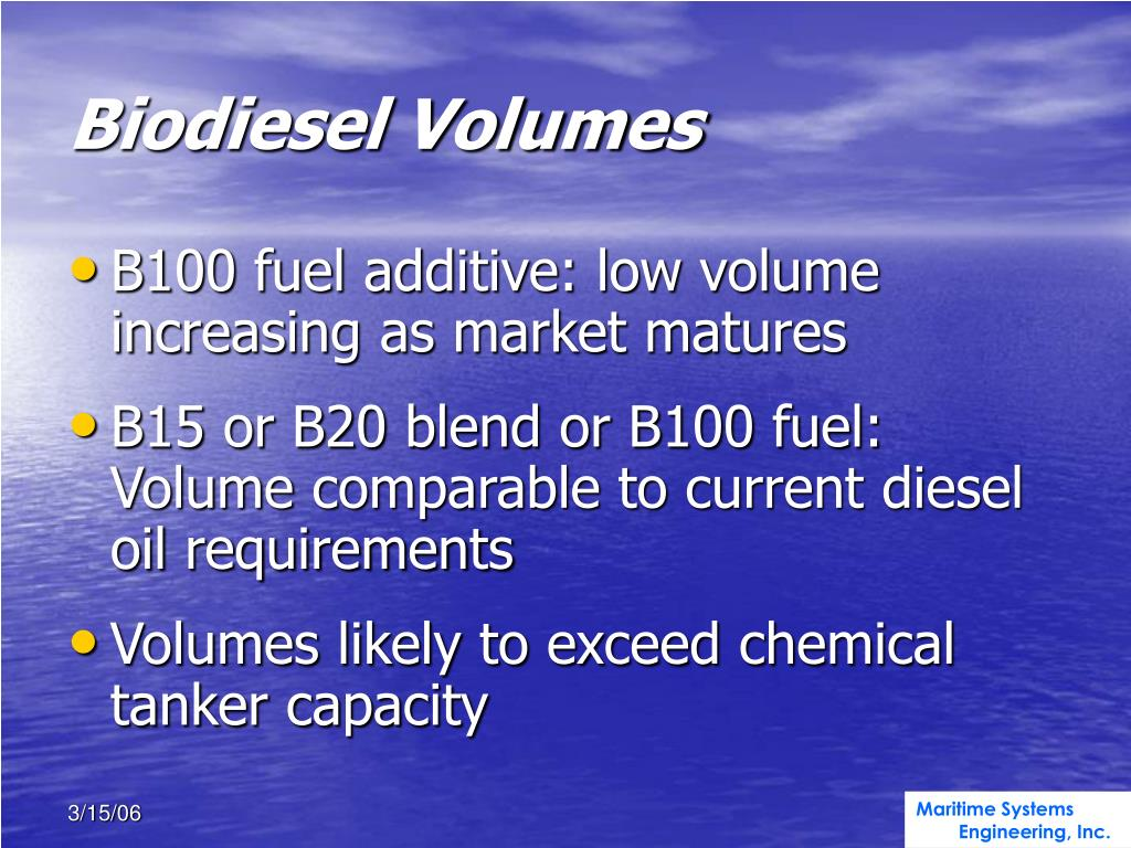 Biodiesel Volumes