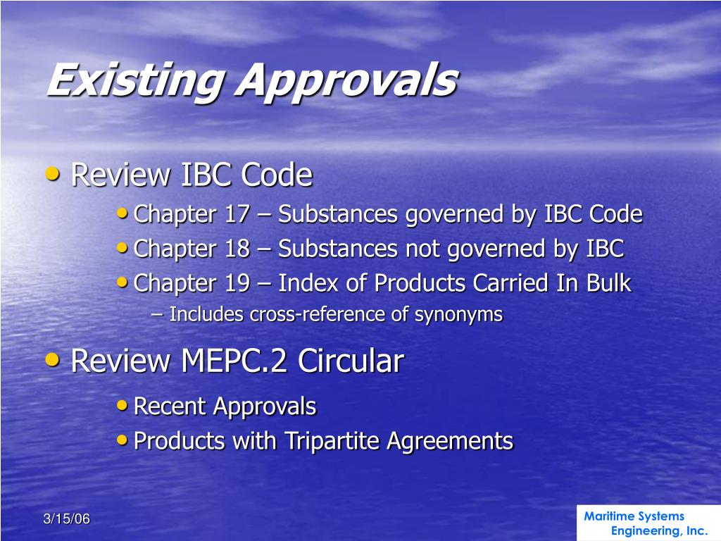 Existing Approvals