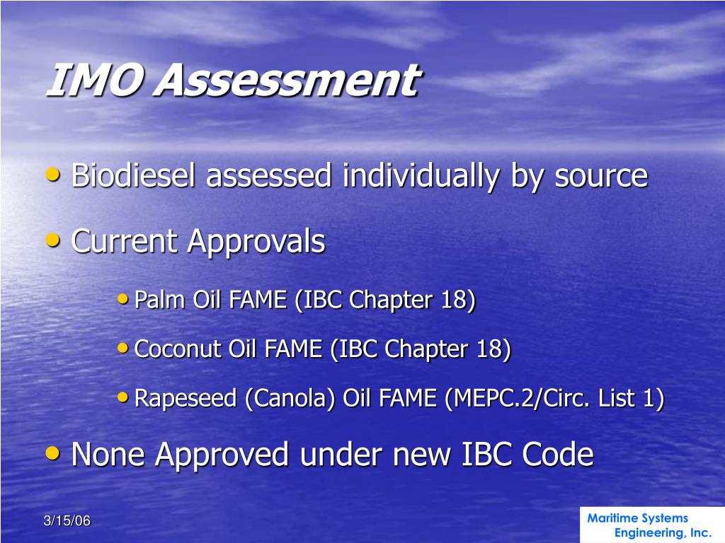 IMO Assessment