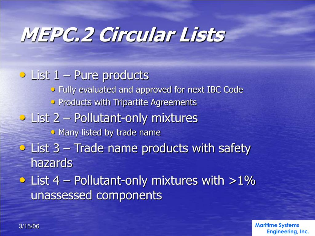 MEPC.2 Circular Lists