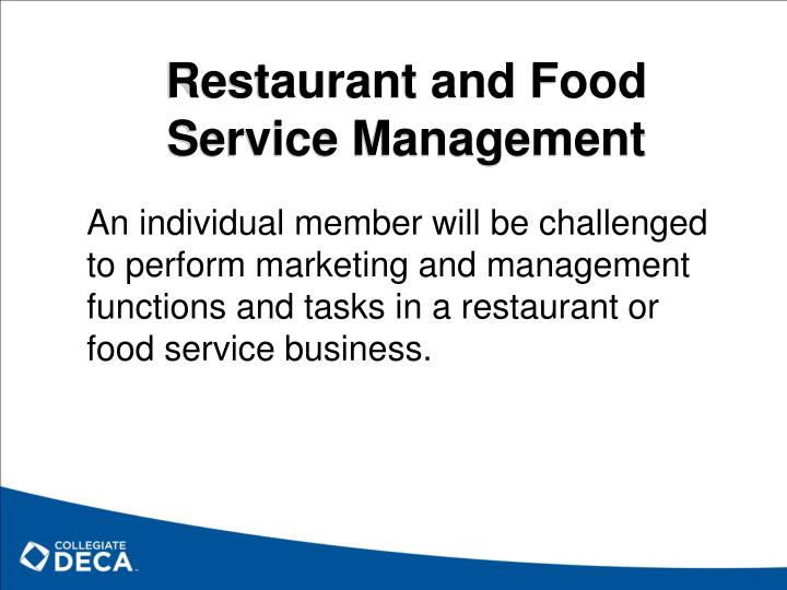 Restaurant and Food Service Management