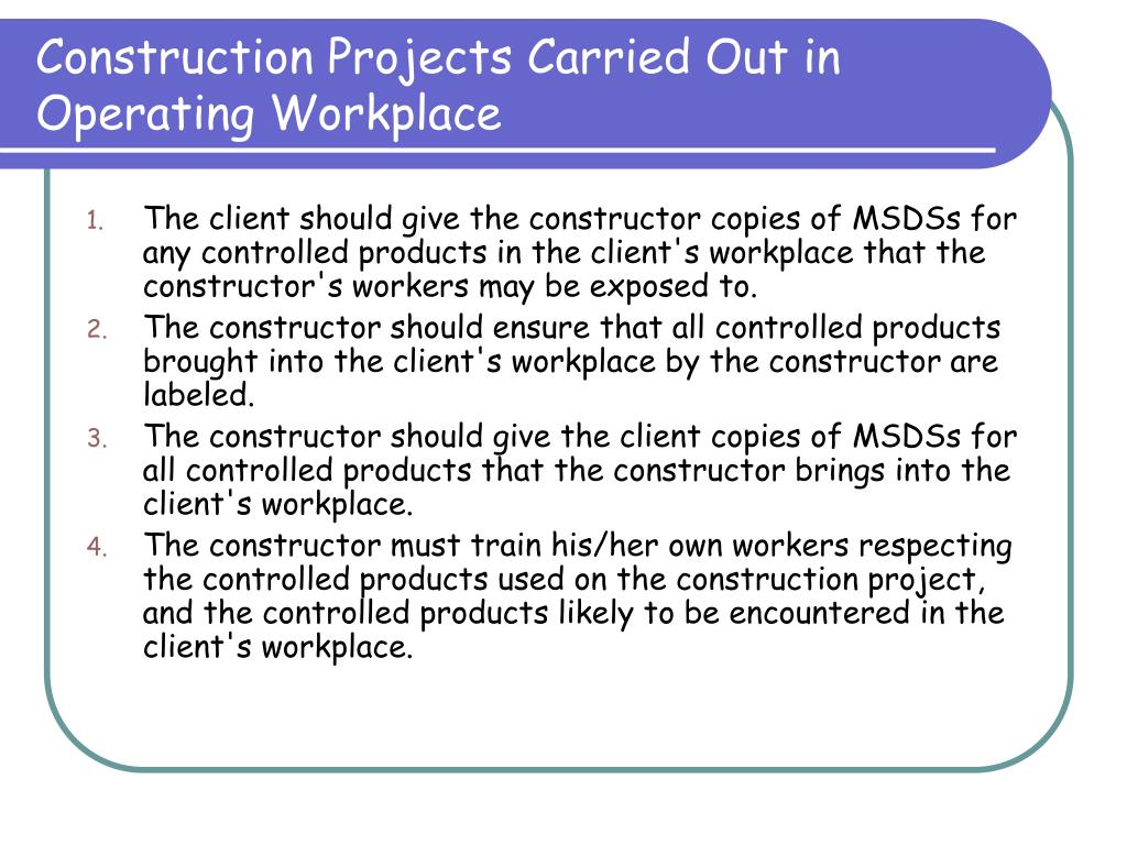 Construction Projects Carried Out in Operating Workplace