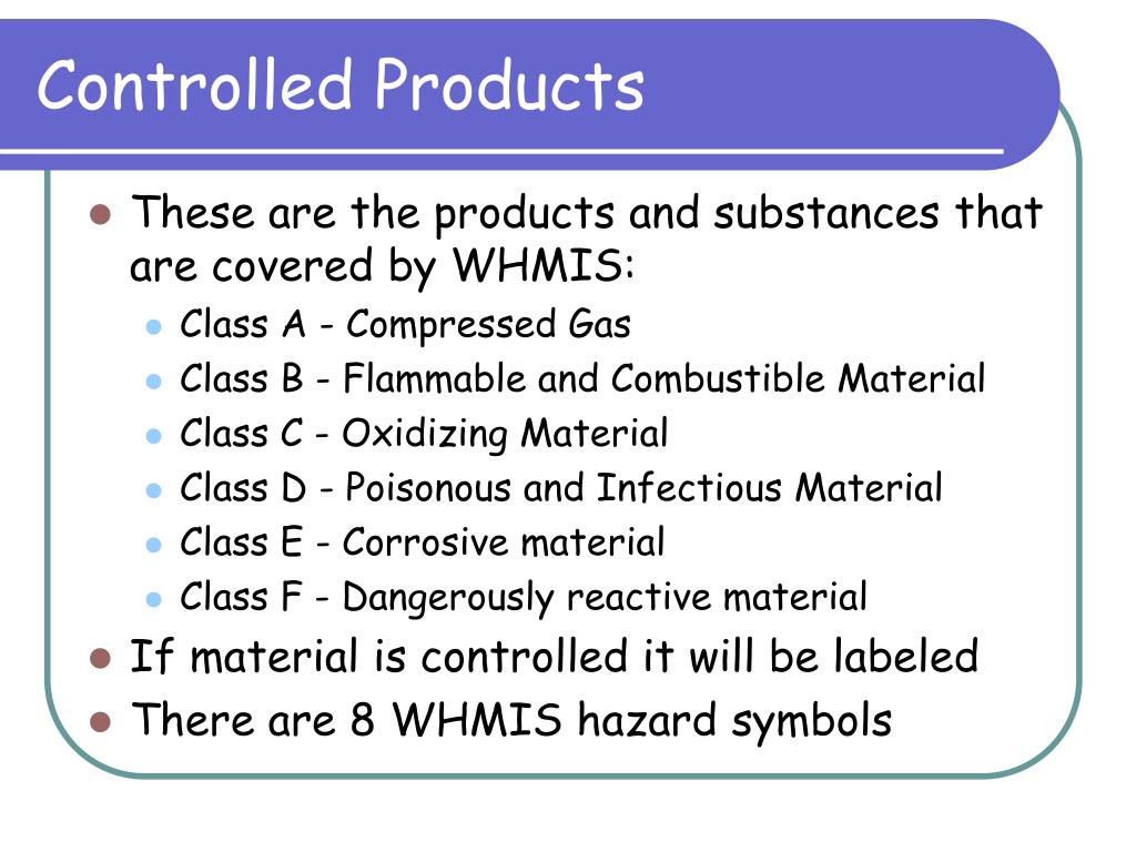 Controlled Products
