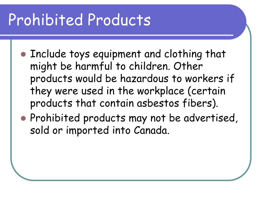 Prohibited Products