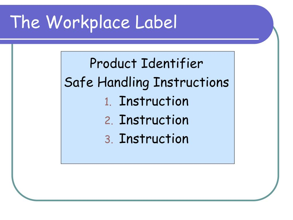 The Workplace Label