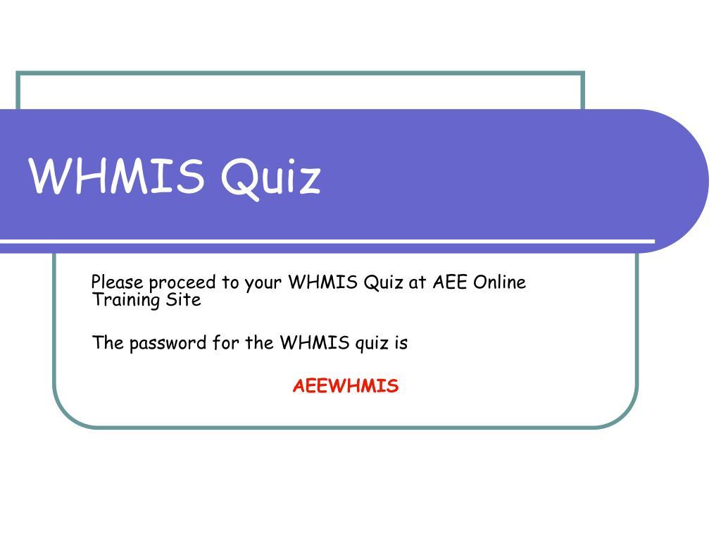 WHMIS Quiz