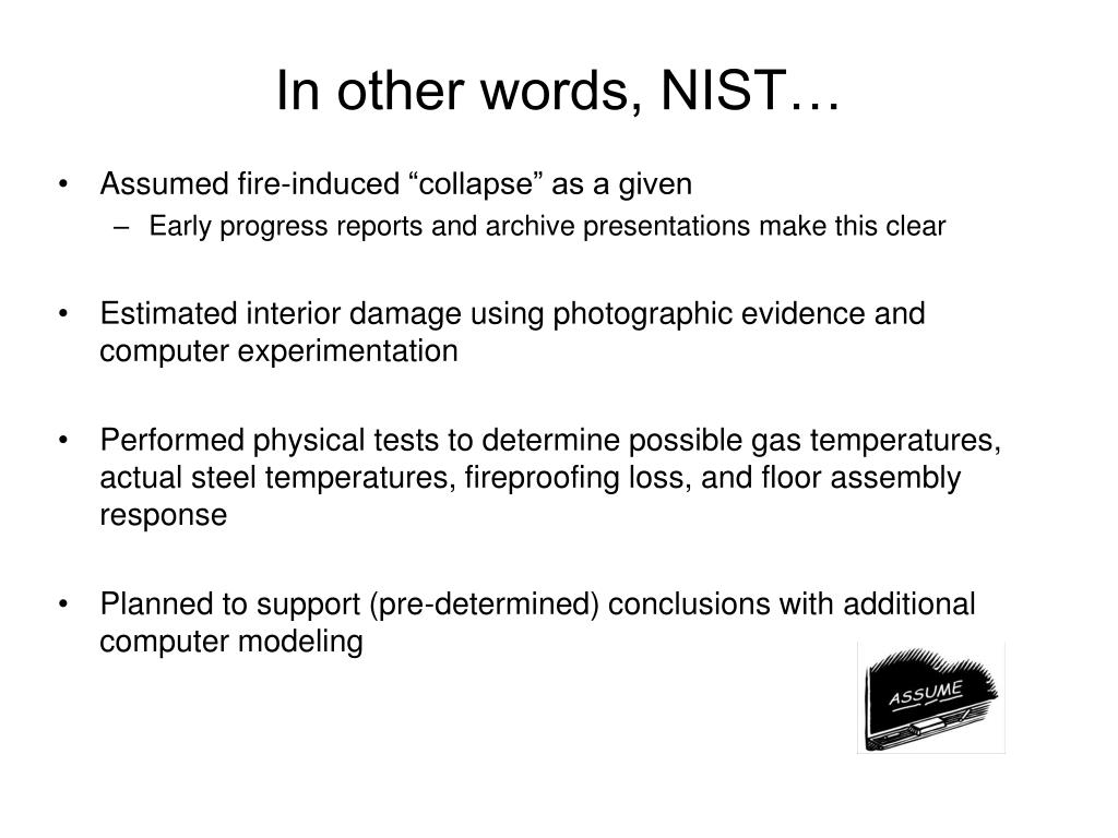 In other words, NIST…