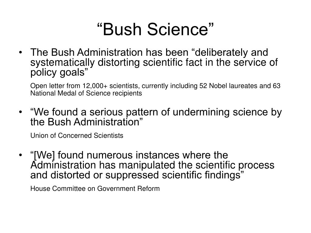 """Bush Science"""