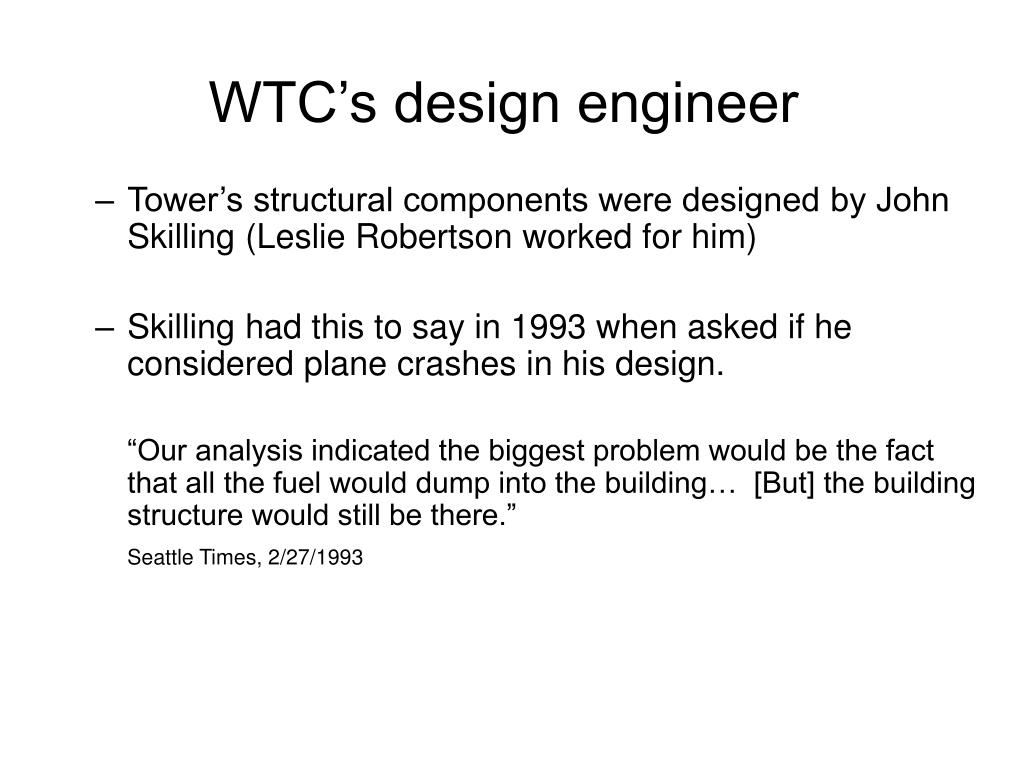WTC's design engineer
