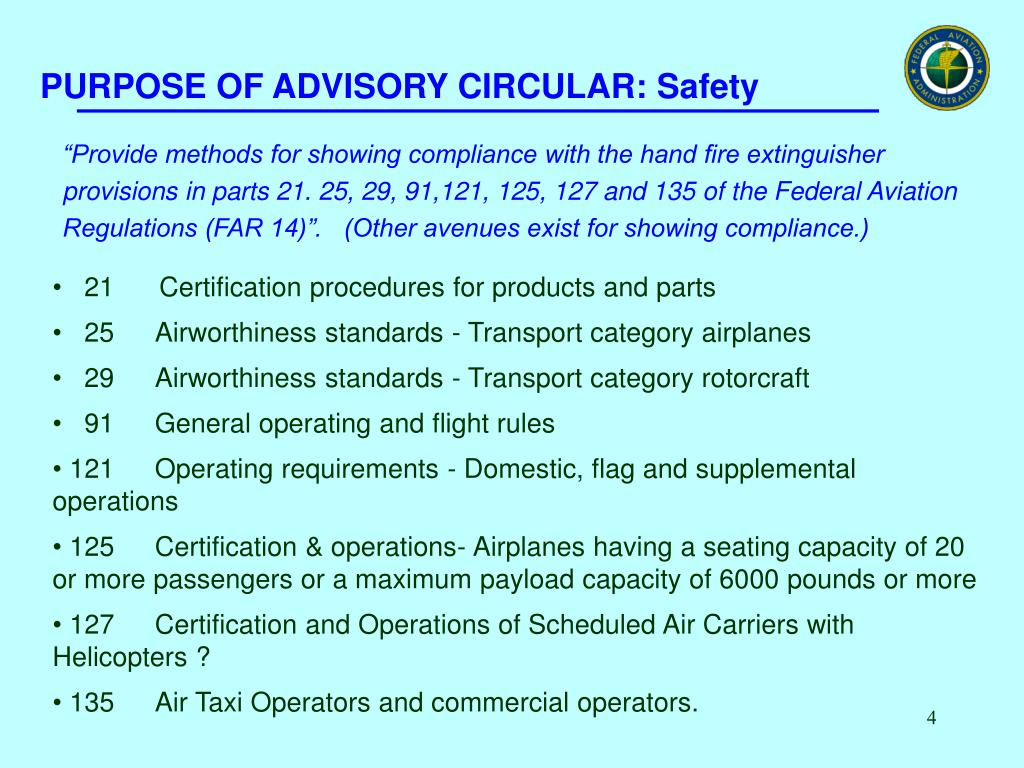 PURPOSE OF ADVISORY CIRCULAR: Safety