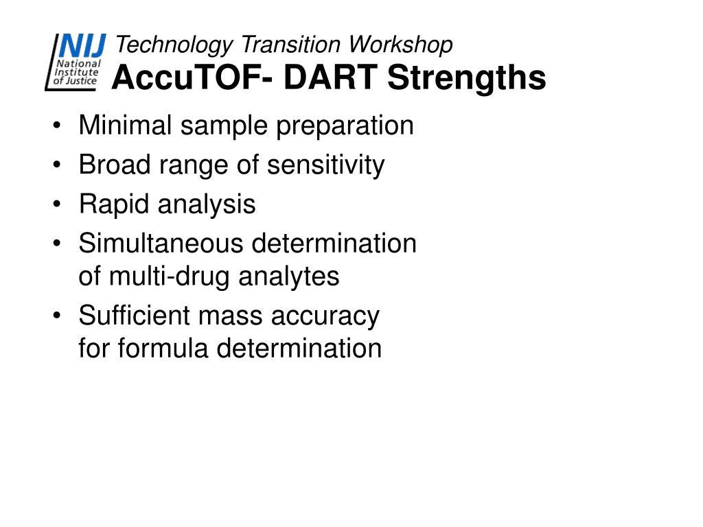 AccuTOF- DART Strengths