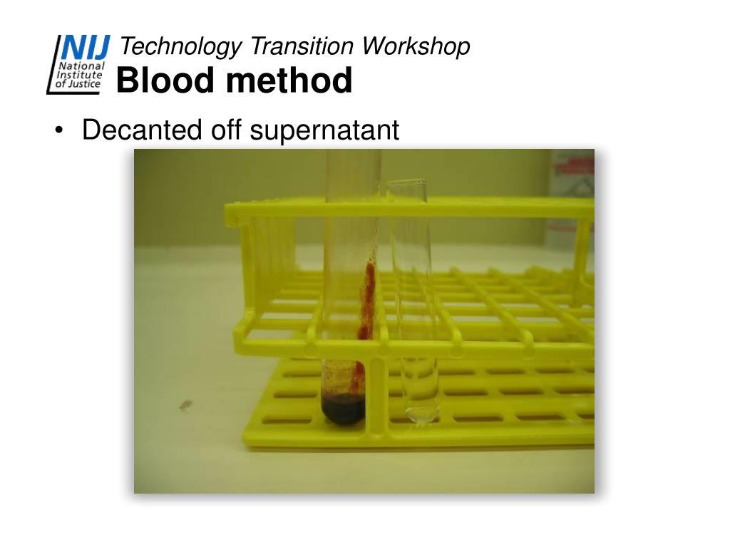 Blood method