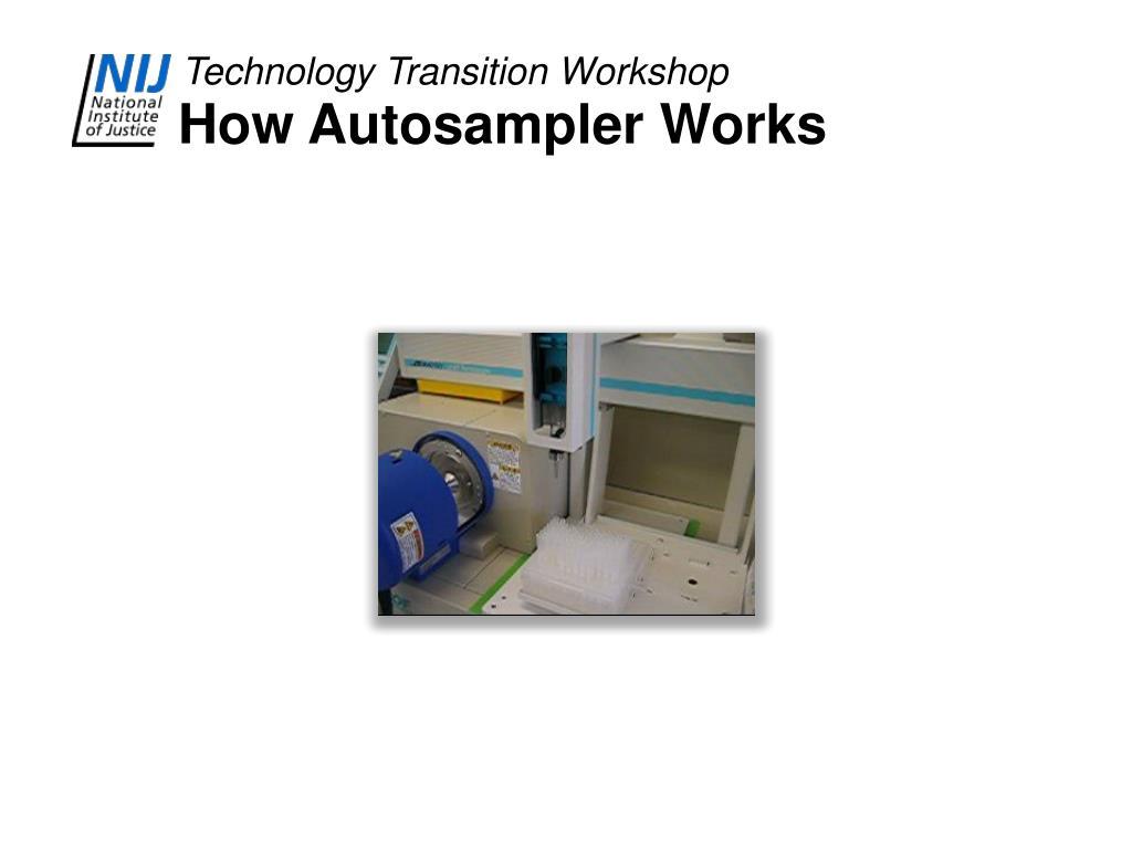 How Autosampler Works