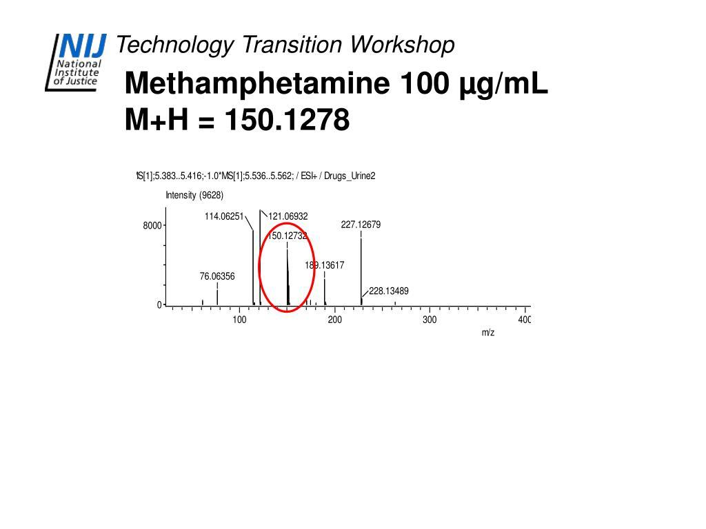 Methamphetamine 100 µg/mL